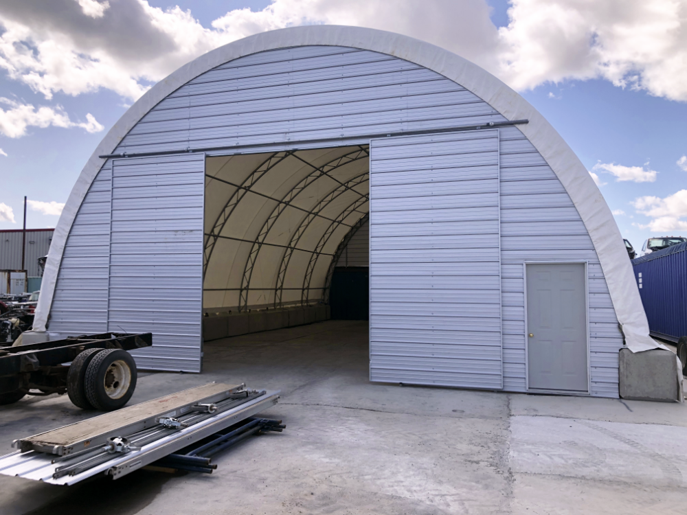 38' wide by 60' long Double-Truss Portable Building