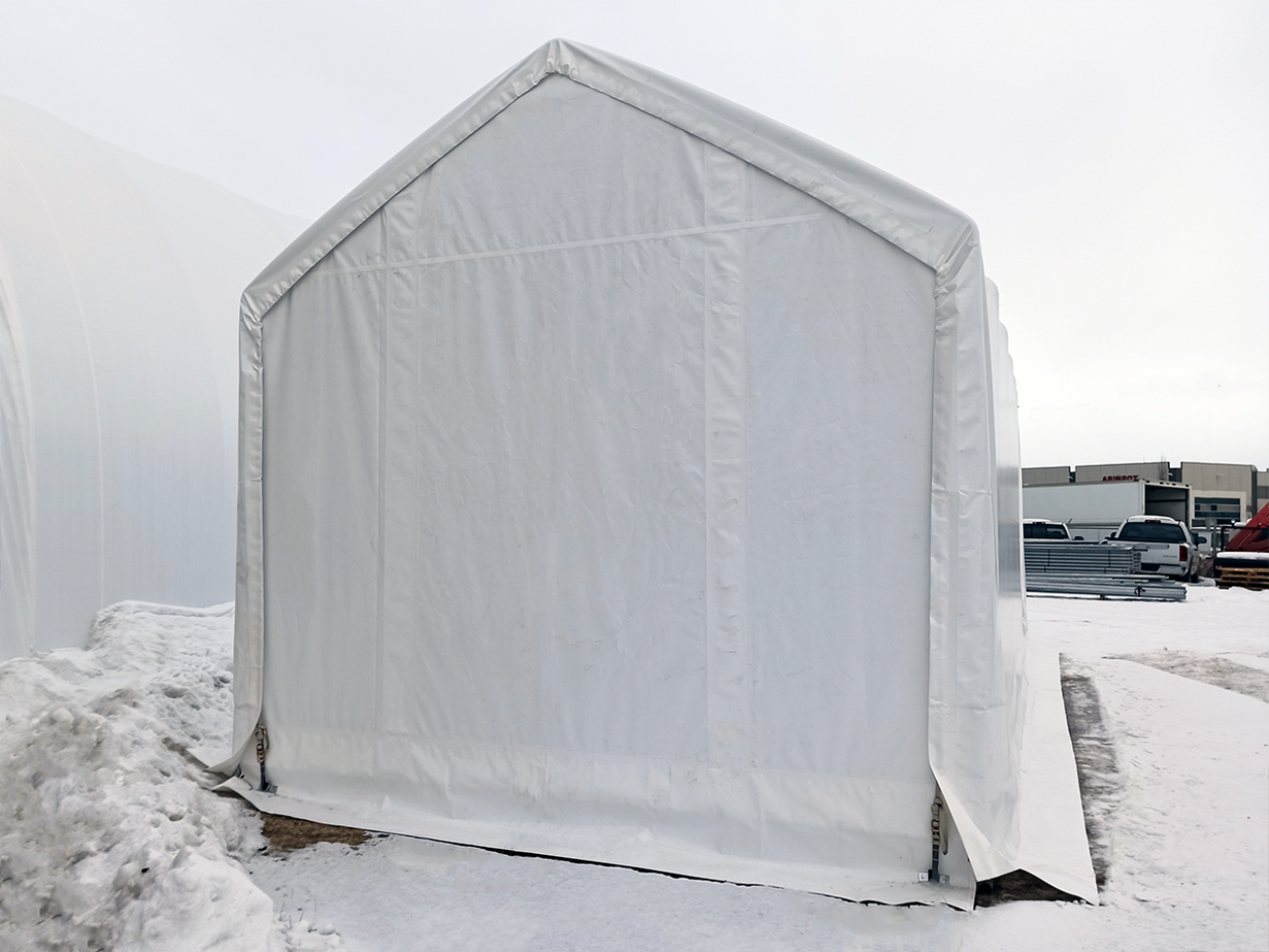 15' wide by 30' long Boat & RV Shelter Endwall