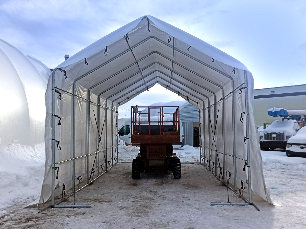 15' wide by 30' long Boat & RV Shelter Inside