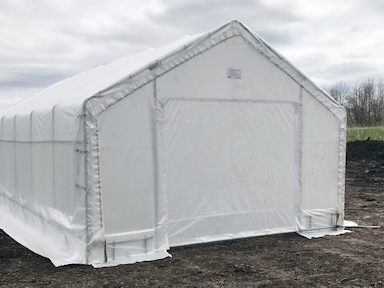 15' x 30' Greenhouse Front