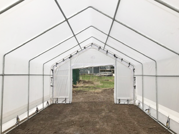 15' x 30' Greenhouse Inside