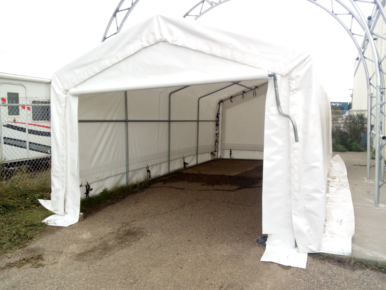 12' Wide Portable Garage by 24' long, with Rolled-Up Door