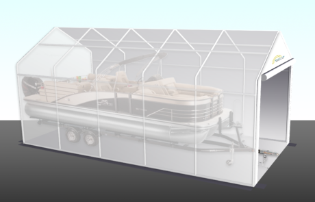 15' Wide Boat Shelter Illustration - Pontoon Boat