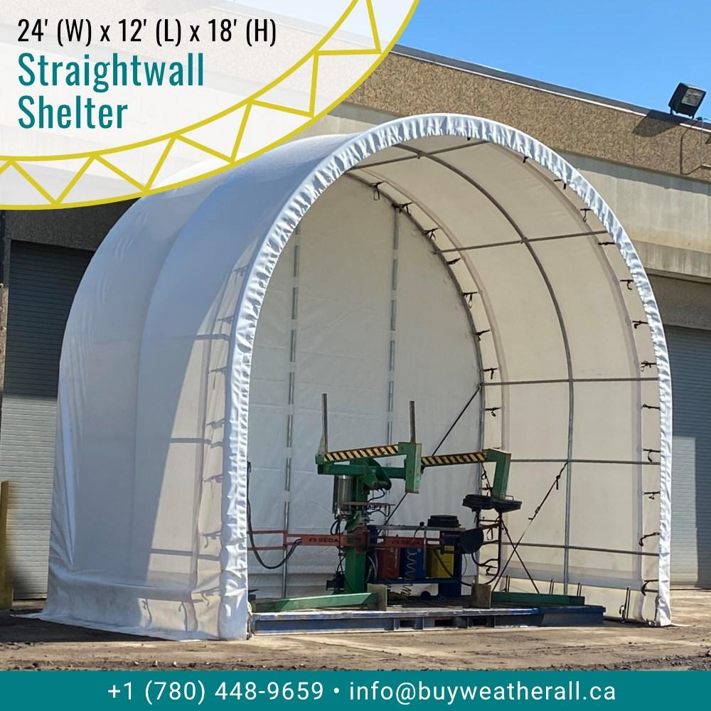 24x12 Single Truss Straightwall Shelter